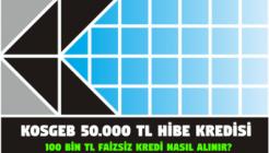 KOSGEB 50.000 TL Hibe ve 100.000 Lira Faizsiz Kredi Nedir Nasıl Alınır?