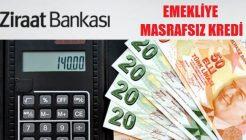 Ziraat Bankası Emeklilere Özel Masrafsız Kredi İmkanları 2017