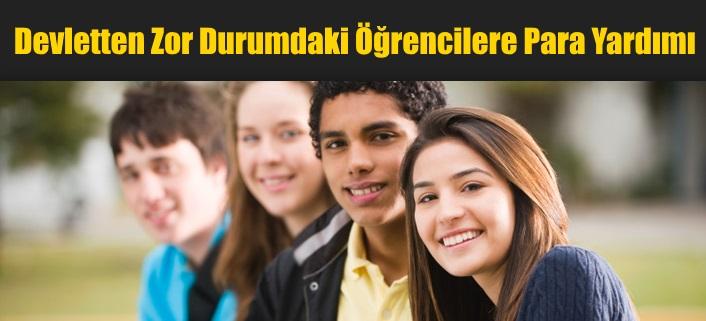 Devletten Zor Durumdaki Öğrencilere Para (SED) Yardımı
