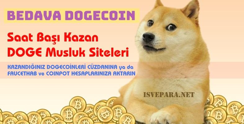 Bedava Free DOGECOIN Veren Kazandıran Musluk Siteler (2018 Güncel)