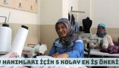 Ev Hanımları İçin Evde Ek İş Yaparak Para Kazanma Fikirleri