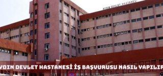 Aydın Devlet Hastanesi İş Başvurusu Nasıl Yapılır?