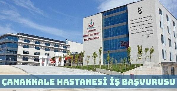 Çanakkale Devlet Hastanesi İş Başvurusu Nasıl Yapılır?