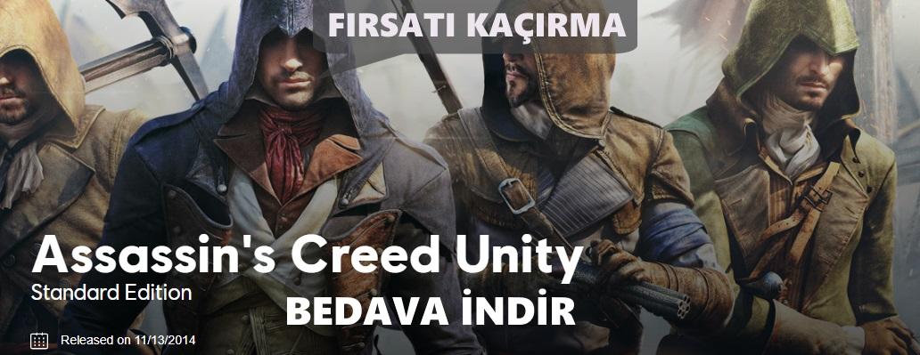 Assassin's Creed Unity resmi sitesinden bedava indir